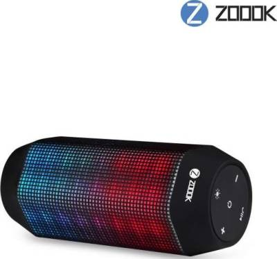 Zoook ZB-ROCKER 2 - 10W Voice Control LED Bluetooth Speaker System with Built-in Power bank of 4400mAh (MIC,Aux,USB/TF Input)