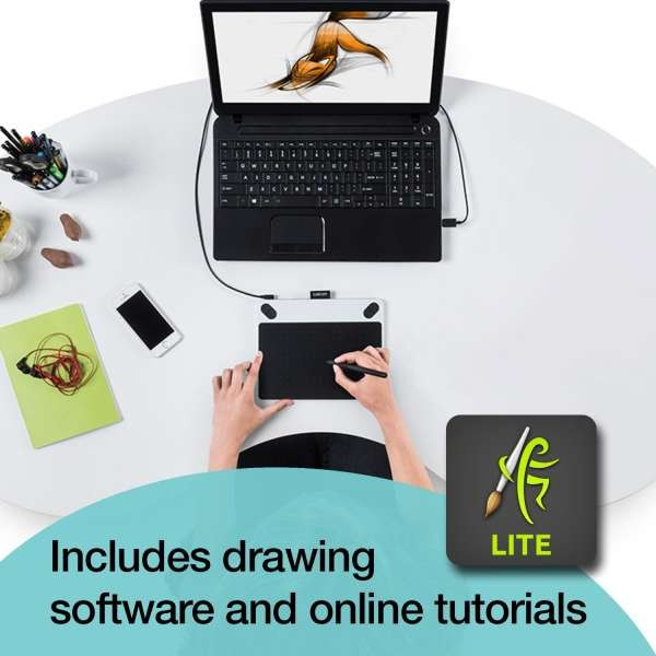 Wacom Intuos Draw Digital Drawing and Graphics Tablet | CTL-490DW-N ...