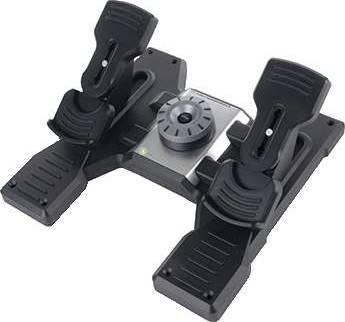 Logitech Flight Rudder Pedals - Professional Simulation Rudder Pedals with Toe Brake | 945-000005