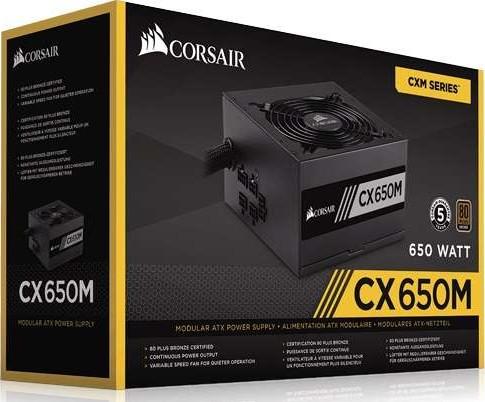 Corsair Cx650m Cx Series 650 Watt 80 Plus Bronze Certified