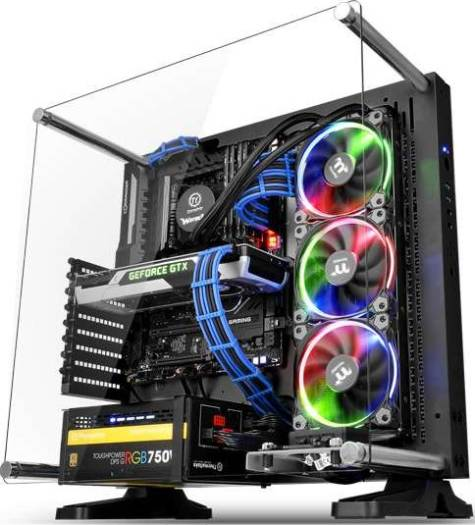 Thermaltake Core P3 ATX Transparent Window Black Mid Tower Wall-Mount Chassis | CA-1G4-00M1WN-00
