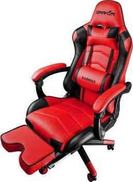 Raidmax Drakon Gaming Chair With Footrest Red Dk709rd