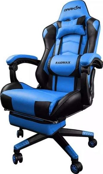 Raidmax Drakon Gaming Chair With Footrest Blue Dk709bu
