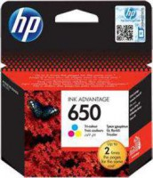 HP 650 Tri Color Inkjet Cartridge | CZ102AE
