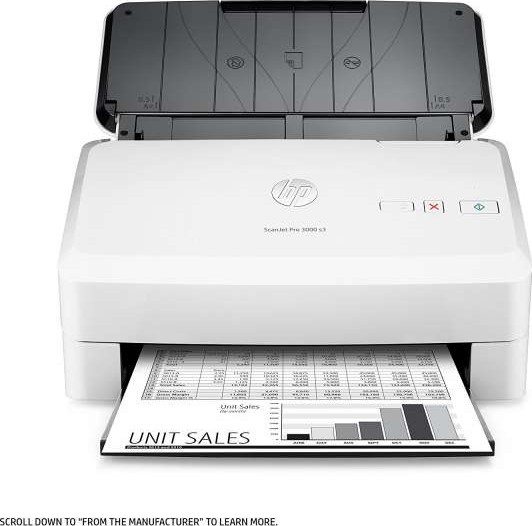 Hp scanjet pro 3000 s3 sheet feed document scanner for Best duplex document scanner