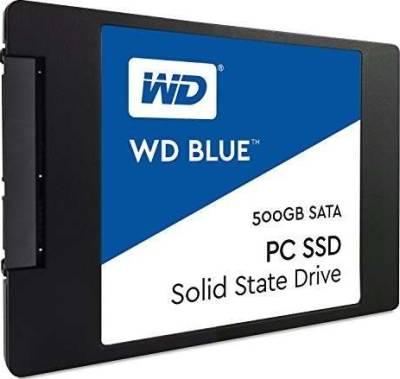 Western Digital Blue 500GB Internal SSD Solid State Drive - SATA 6Gb/s 2.5 Inch | WDS500G1B0A-00H9H0