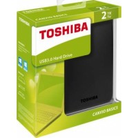 Toshiba Canvio Basics 2TB Portable External Hard Drive 2.5 Inch USB 3.0 - Black | HDTB320EK3CA