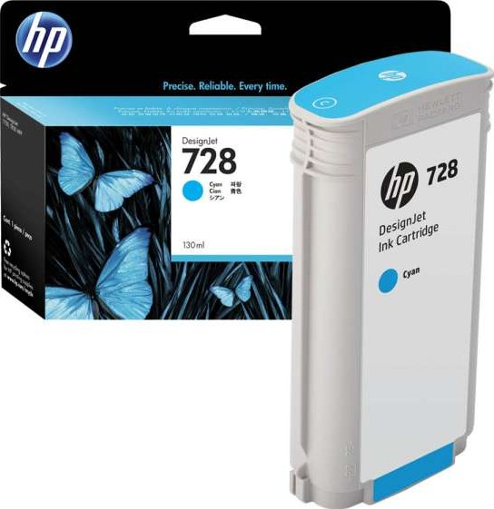 Hp 728 130 Ml Cyan Designjet Ink Cartridge F9j67a Buy