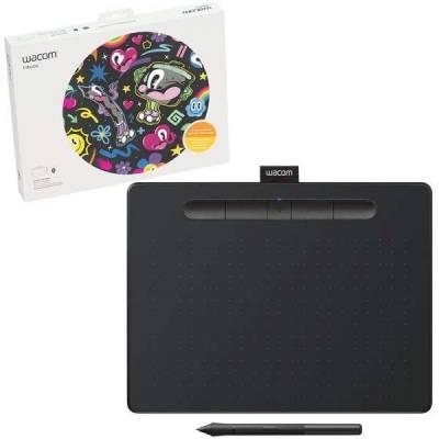 Wacom Intuos M Bluetooth Creative Pen Tablet – (Medium, Black) | CTL-6100WLK-N