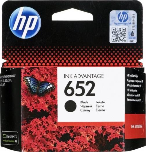 HP 652 Black Original Ink Advantage Cartridge | F6V25AE