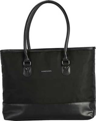 "KingSons Classy Series 15.6"" Ladies Shoulder Bag (Black) 