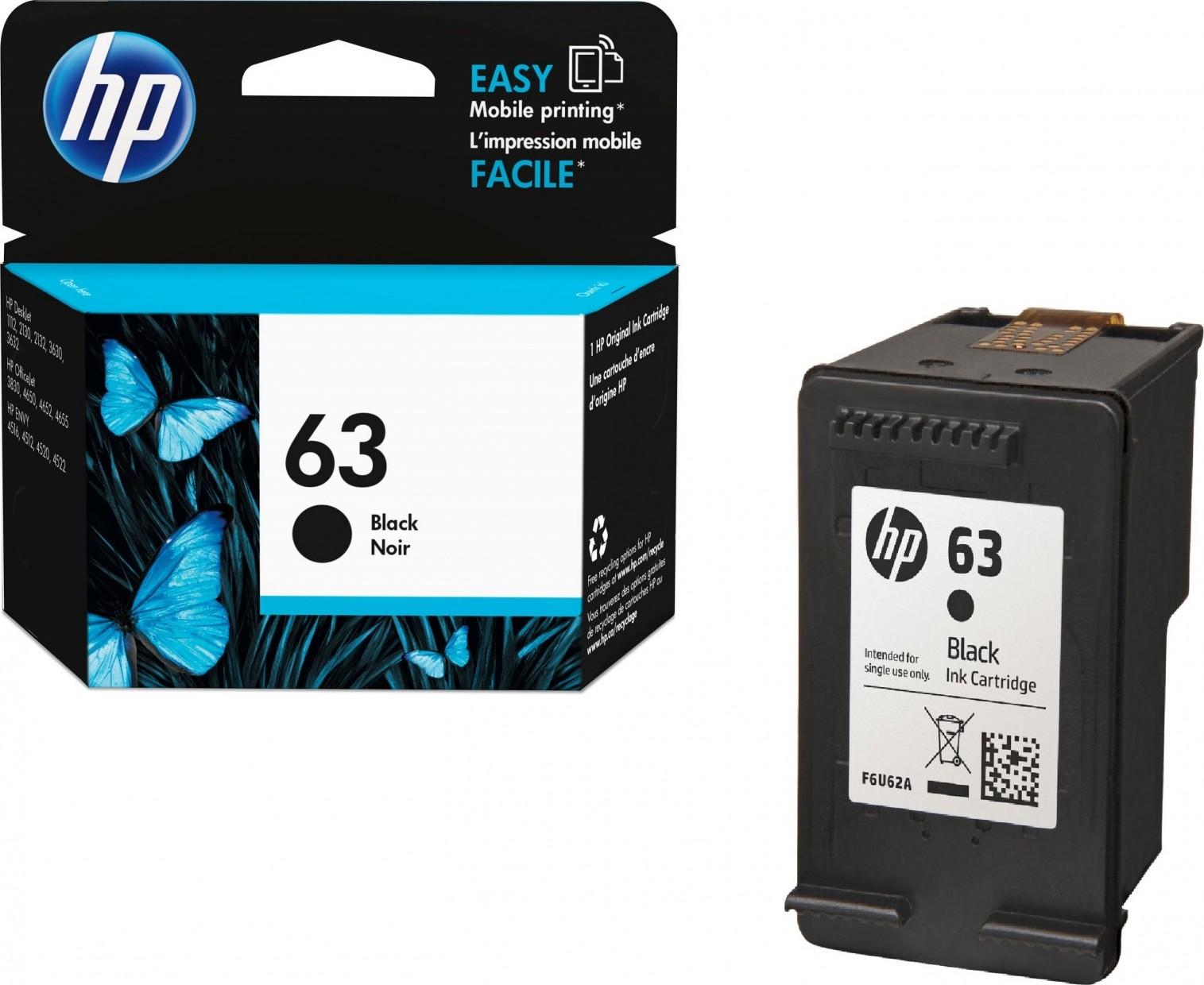 Hp 63 Black Original Ink Cartridge F6u62an Buy Best Price In Uae Tinta Canon Noir 1 Liter