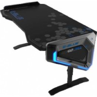 E-Blue Gaming Desk, 1.65 Metres Length, 5 Levels of Adjustable Height, RGB Glowing Light Effect | EGT003