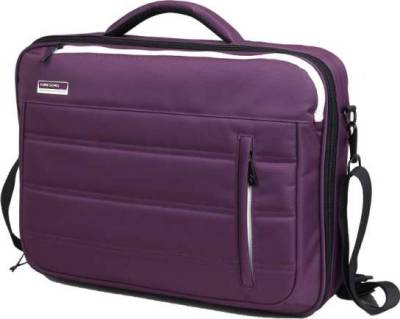 "Kingsons Slice of Life Series 15.6"" Laptop Shoulder Bag (Purple) 