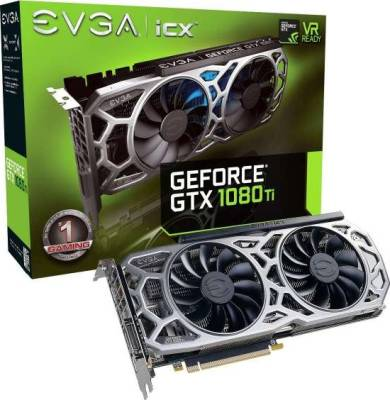 EVGA GeForce GTX 1080 Ti SC2 GAMING, 11GB GDDR5X, iCX Technology - 9 Thermal Sensors & RGB LED G/P/M, Asynch Fan, Optimized Airflow Design Graphics Card  | 11G-P4-6593-KR