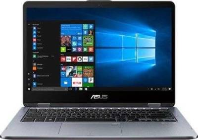 "Asus Vivobook Laptop (i7-8550U 1.8GHz 14"" Touch and Flip 1TB HDD 8GB RAM Nvidia MX130 Windows 10 Home Grey) 