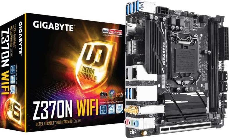 Gigabyte Z370N WIFI Chipset LGA 1151 V2 ITX DDR4 SDRAM Motherboard - Black  | Z370N WIFI